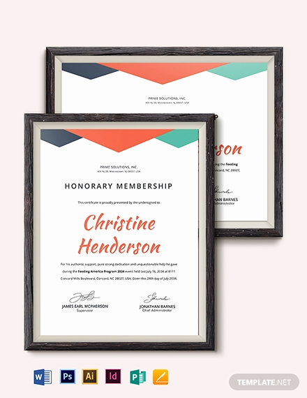 Honorary Member Certificate Template Luxury Simple Certificate Of Honorary Template Word