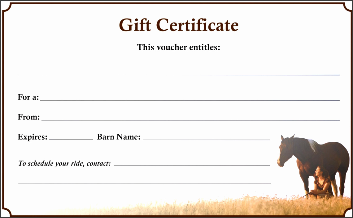 Horseback Riding Gift Certificate Template Awesome 9 Make Your Own Gift Certificate Sampletemplatess