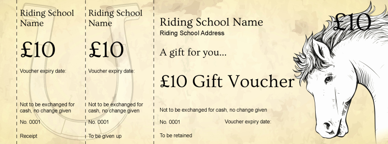 Horseback Riding Gift Certificate Template Inspirational Voucher Design Horse Riding School Gift Vouchers