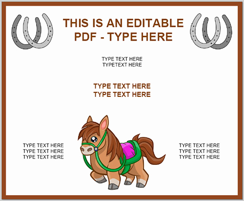 Horseback Riding Gift Certificate Template New Popular