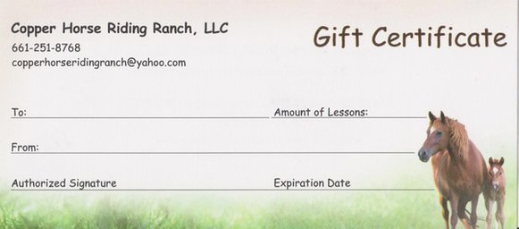 Horseback Riding Gift Certificate Template Unique Copper Horse Riding Ranch