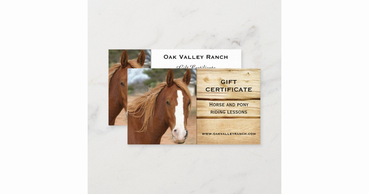 Horseback Riding Gift Certificate Template Unique Horse Riding Lessons Gift Certificate Template