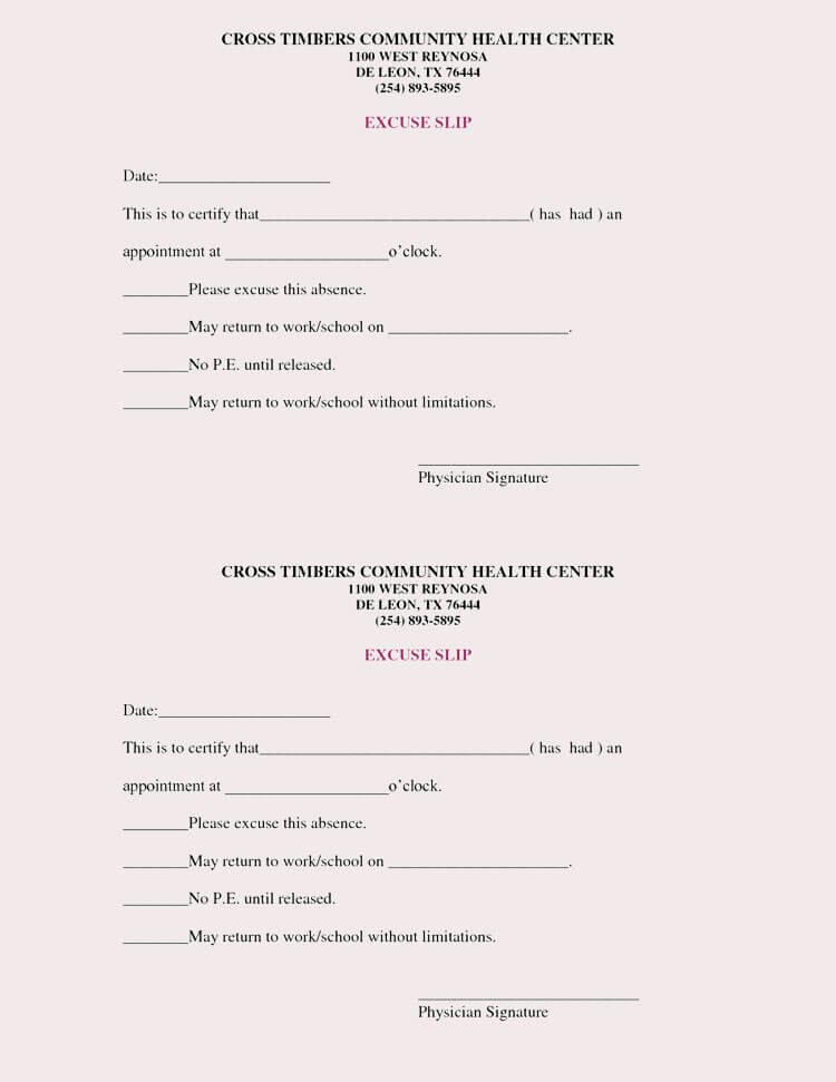 Hospital Note for Work Template Awesome Creating Fake Doctor S Note Excuse Slip 12 Templates