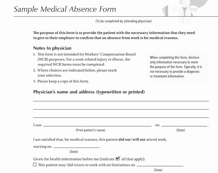 Hospital Note for Work Template Inspirational 27 Free Doctor Note Excuse Templates Free Template