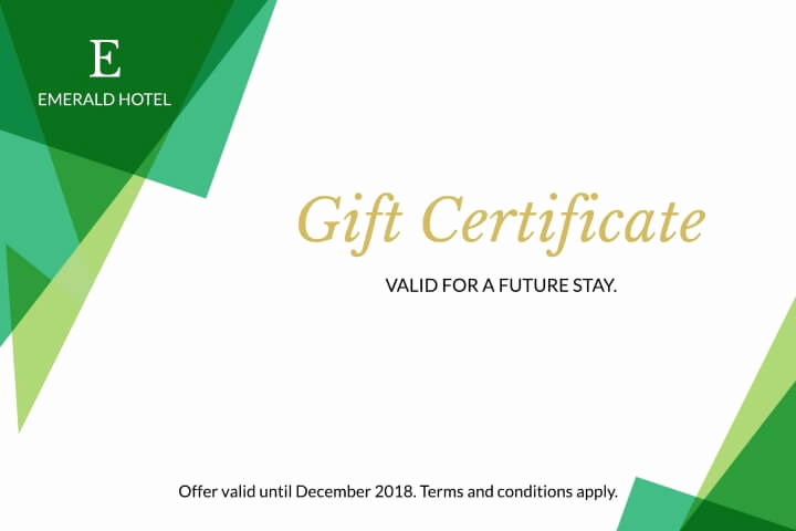 Hotel Gift Certificate Template Awesome Free Business Gift Certificates Templates & Examples