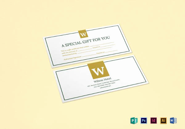 Hotel Gift Certificate Template Best Of 7 Hotel Gift Certificate Templates Free Sample Example