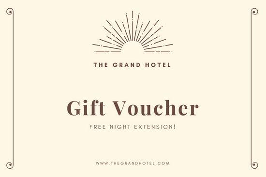 Hotel Gift Certificate Template Fresh Cream and Brown Hotel Gift Certificate Templates by Canva