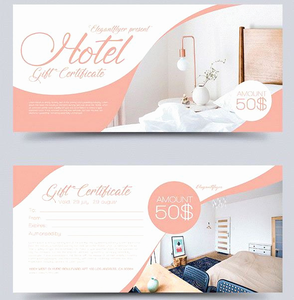 Hotel Gift Certificate Template Inspirational 51 Premium & Free Psd Professional Gift Certificates