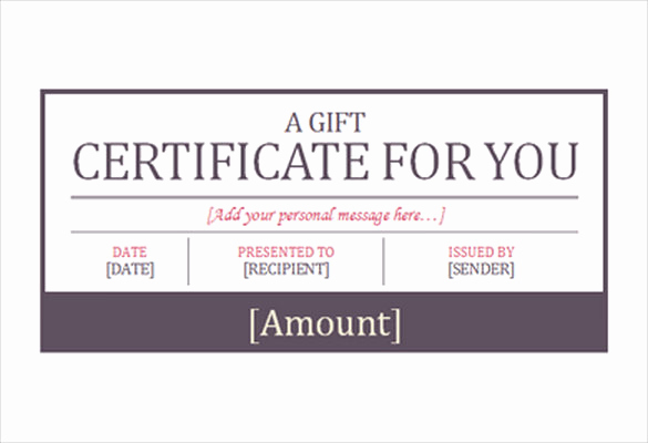 Hotel Gift Certificate Template Lovely 7 Hotel Gift Certificate Templates Free Sample Example