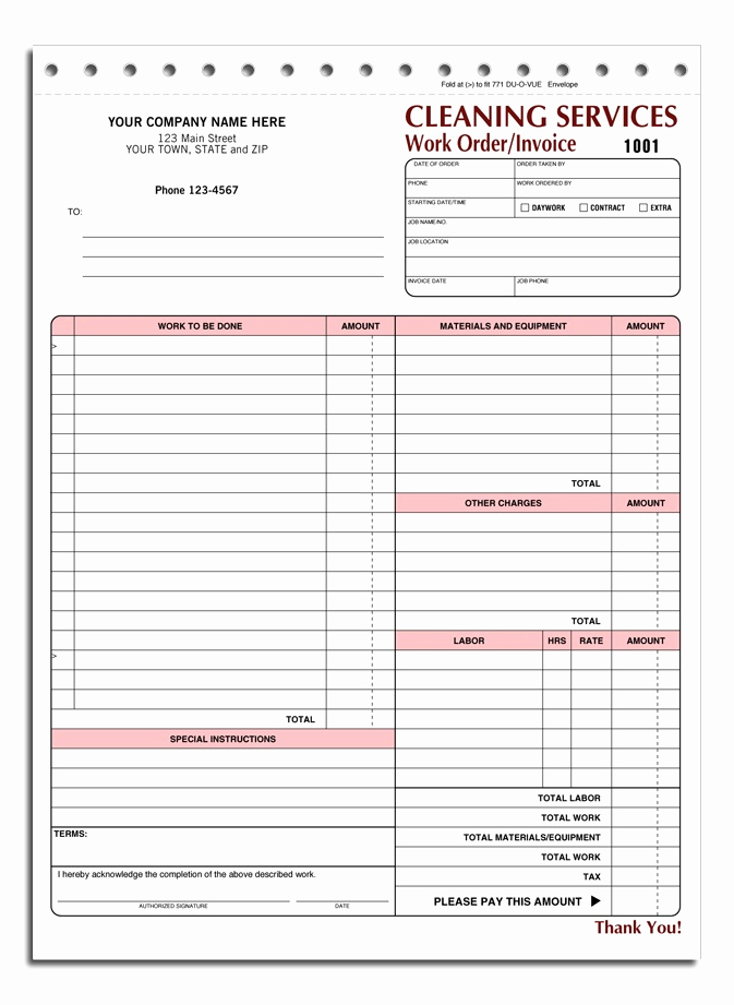 House Cleaning Invoice Template Unique House Cleaning Free Printable House Cleaning Invoices