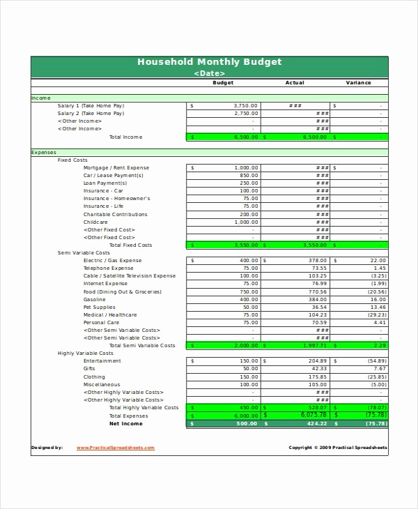 Household Monthly Budget Template Best Of 10 Best Bud Templates Images On Pinterest