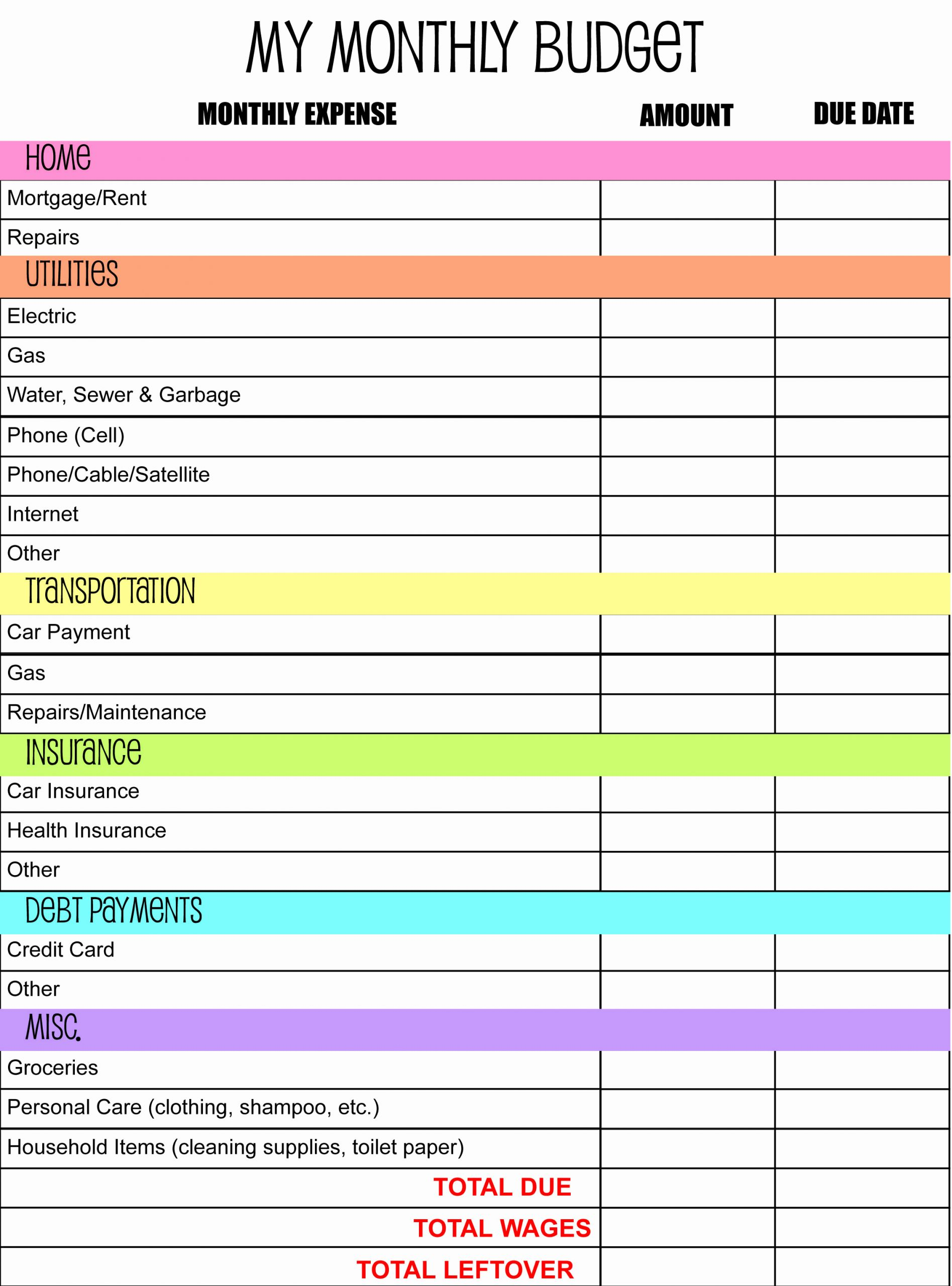 Household Monthly Budget Template Best Of Monthly Bud Planner I Made anderson Publications