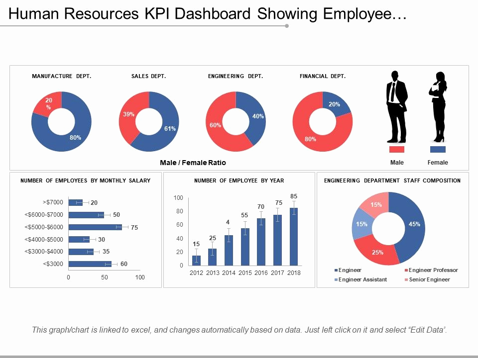 Human Resource Budget Template Best Of Human Resources Kpi Dashboard Showing Employee Number by