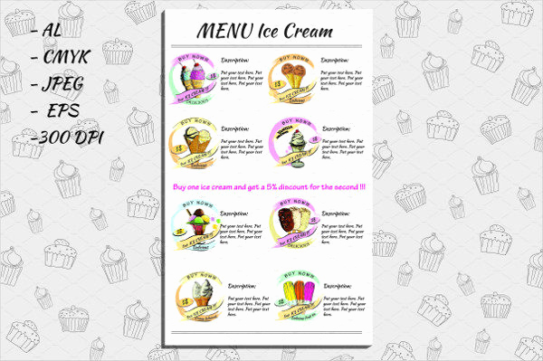 Ice Cream Menu Template Awesome Ice Cream Menu Template 19 Free & Premium Download