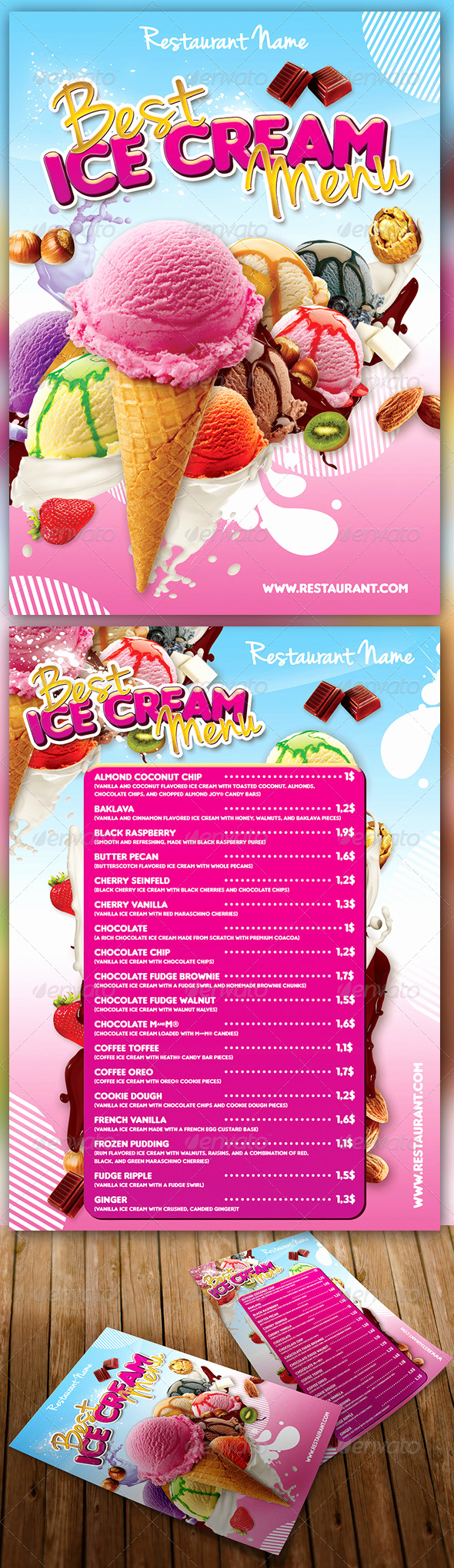 Ice Cream Menu Template Beautiful Ice Cream Menu