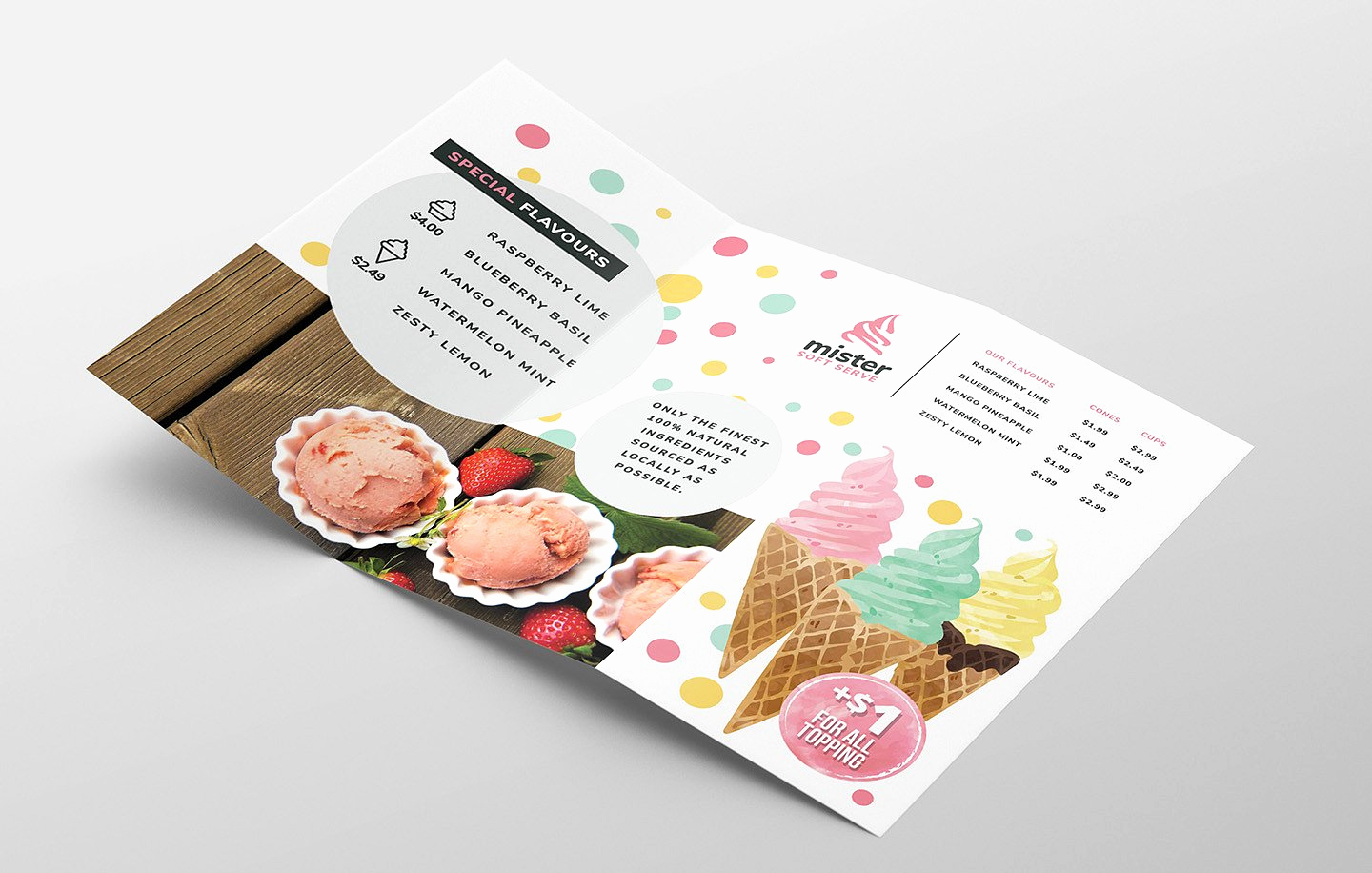 Ice Cream Menu Template Beautiful Ice Cream Shop Trifold Menu Template In Psd Ai & Vector