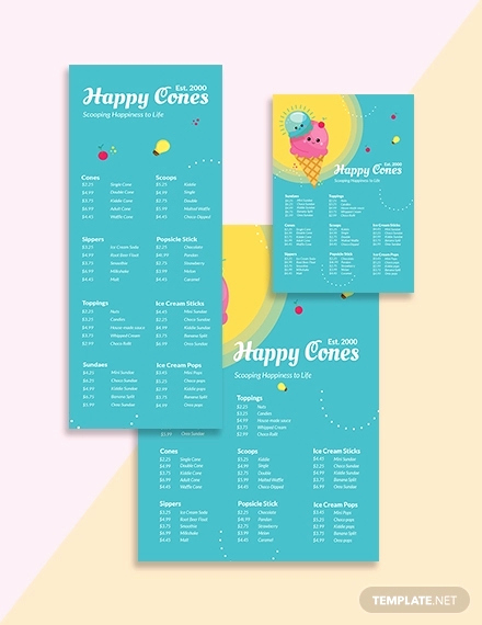 Ice Cream Menu Template Elegant 13 Ice Cream Menu Templates Psd Eps Ai Word