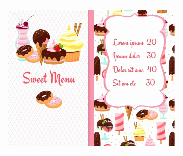 Ice Cream Menu Template Elegant 24 Price Menu Templates Free Sample Example format