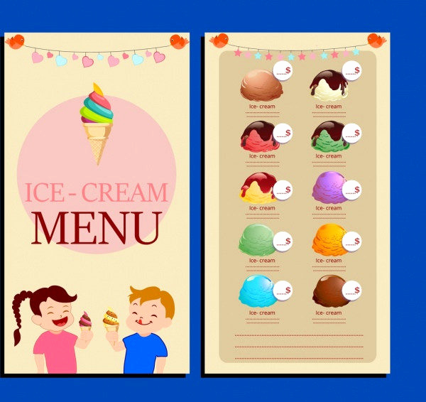 Ice Cream Menu Template Fresh Ice Cream Menu Template 19 Free & Premium Download