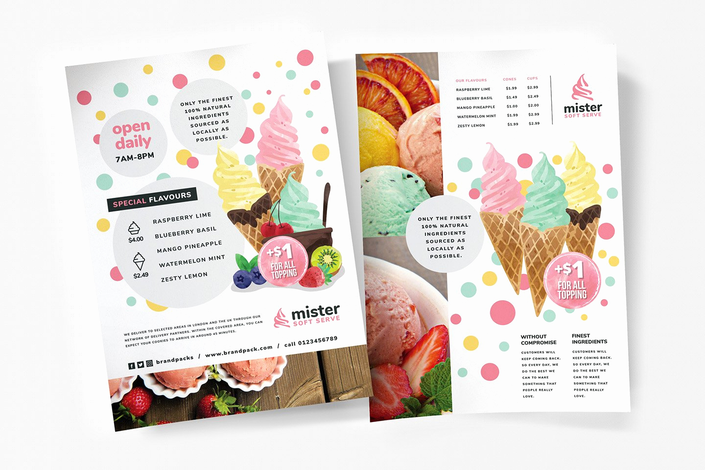Ice Cream Menu Template Lovely A4 Ice Cream Shop Poster Template Flyer Templates