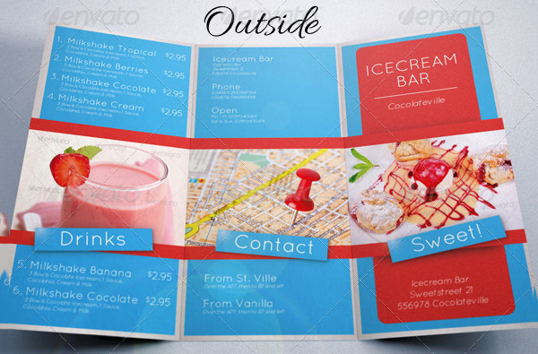 Ice Cream Menu Template New Food Menu Template 36 Free Word Pdf Psd Eps