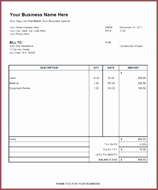 Independent Contractor Invoice Template Excel Luxury 6 1099 Template Excel Exceltemplates Exceltemplates