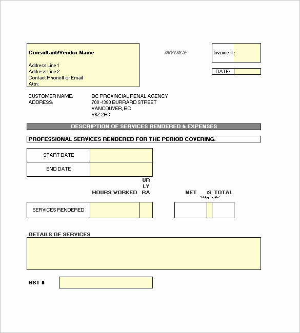 Independent Contractor Invoice Template Excel Unique 29 Contractor Invoice Templates for Microsoft Word & Excel