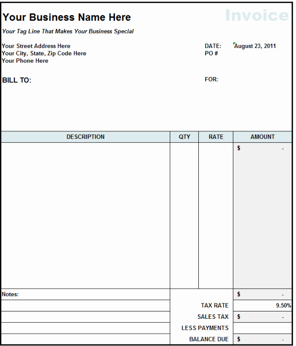 Independent Contractor Invoice Template Excel Unique Independent Contractor Invoice Template Excel