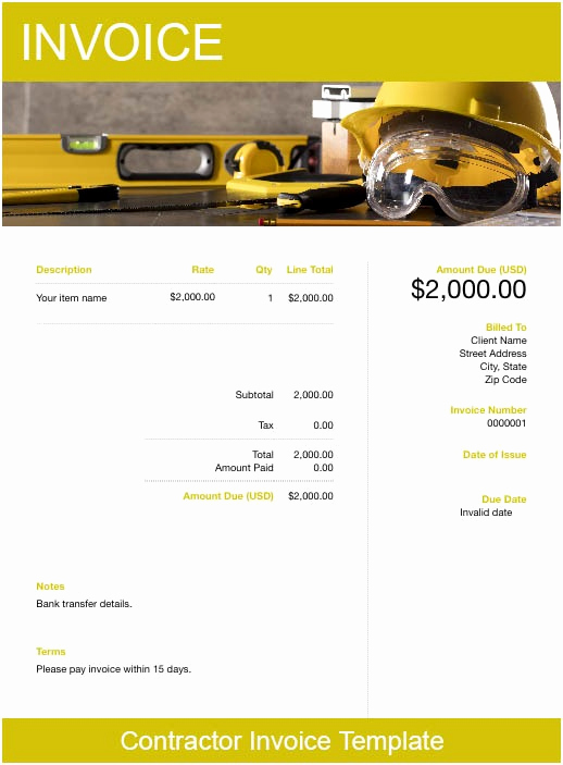 Independent Contractor Invoice Template Free Best Of Contractor Invoice Template Free Download
