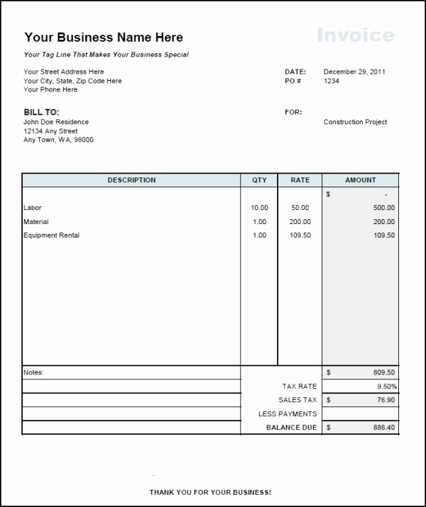 Independent Contractor Invoice Template Free Inspirational Invoice Template Independent Contractor