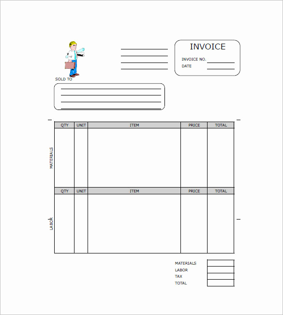 Independent Contractor Invoice Template Free Lovely Contractor Invoice Templates 14 Free Word Excel Pdf