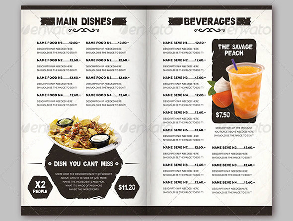 Indesign Menu Template Free Awesome 45 Useful Vintage Restaurant Menu Templates Psd