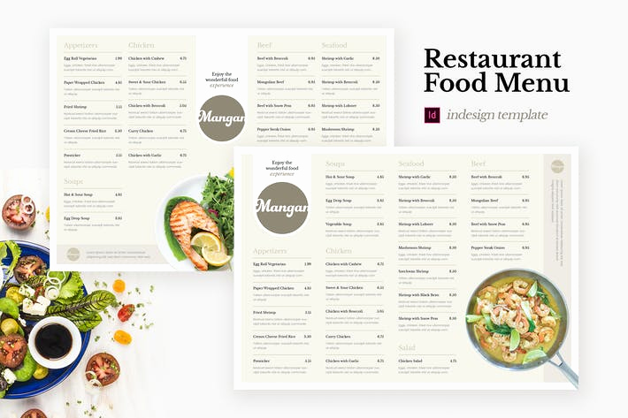 Indesign Menu Template Free Best Of Mangan Restaurant Food Menu Indesign Template by