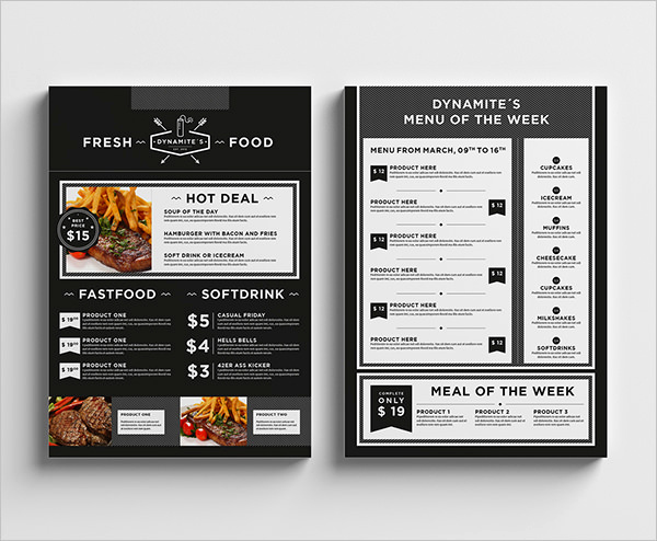 Indesign Menu Template Free Fresh Food Menu Template 36 Free Word Pdf Psd Eps