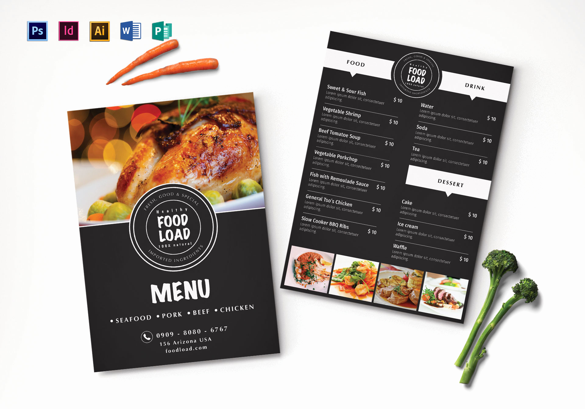 Indesign Menu Template Free Inspirational Dinner Party Menu Design Template In Psd Illustrator