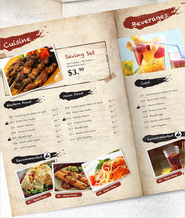 Indesign Menu Template Free Inspirational Indesign Menu Template 23 Free & Premium Designs Download