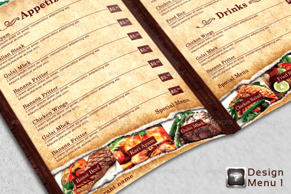 Indesign Menu Template Free Lovely 40 Psd & Indesign Food Menu Templates for Restaurants