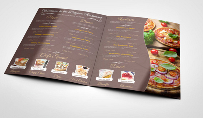 6 indesign menu template