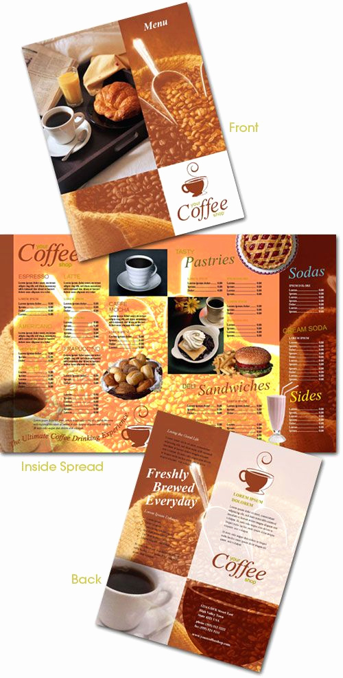 Indesign Menu Template Free New Free Coffee Shop Menu Indesign Template