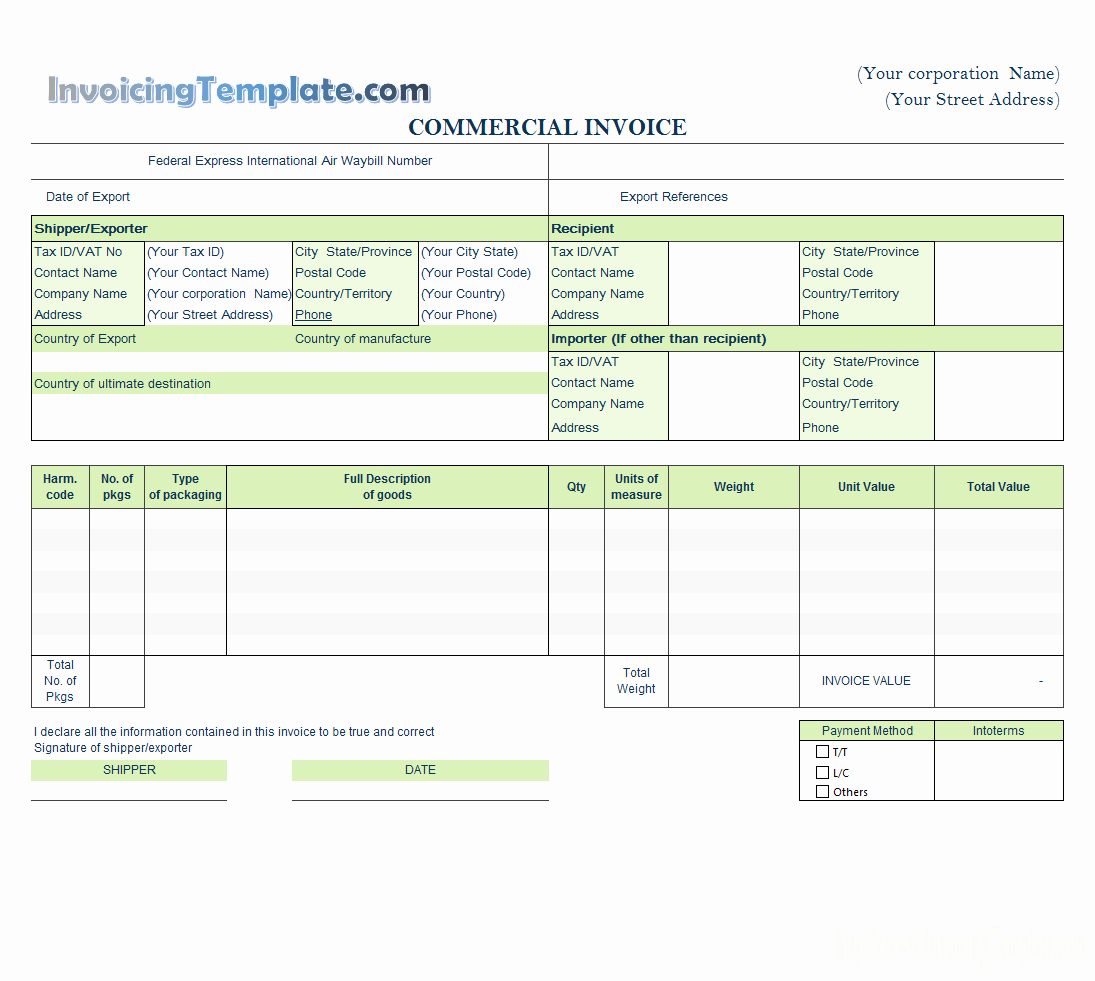 International Commercial Invoice Template Word Best Of Word Rent Invoice Template