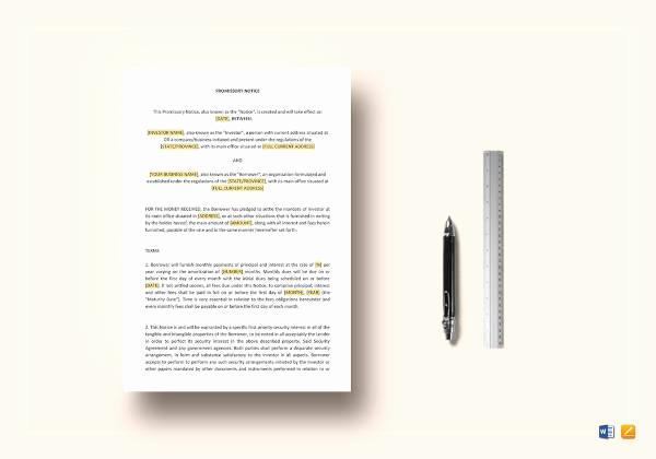 International Promissory Note Template Beautiful 19 Promissory Note Templates Free Sample Example