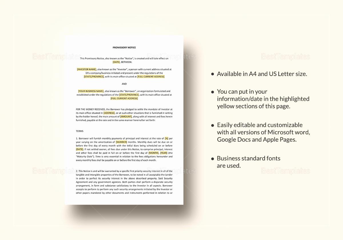 International Promissory Note Template Fresh General Promissory Note Template In Word Google Docs