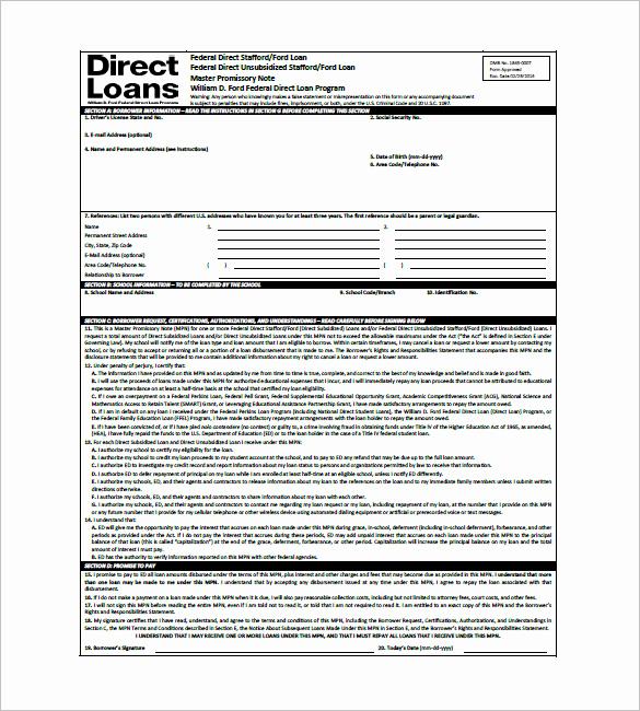 International Promissory Note Template Inspirational 10 Promissory Note form – Free Sample Example format