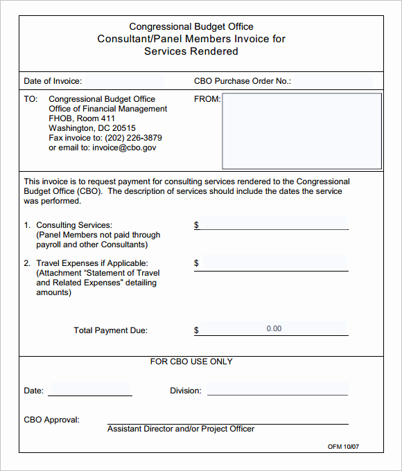Invoice for Services Rendered Template Awesome Free 10 Consulting Invoice Samples In Google Docs