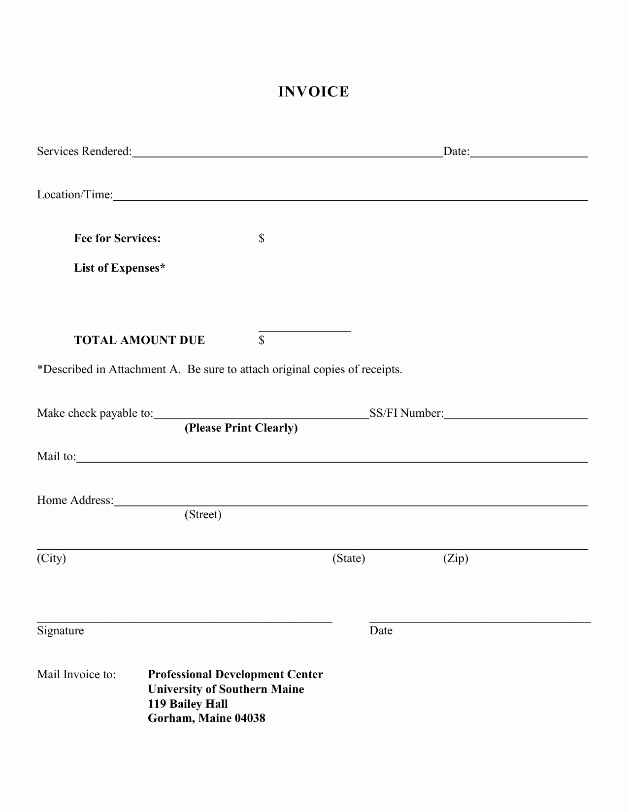 Invoice for Services Rendered Template Luxury Receipt Template for Services Rendered – Printable Receipt