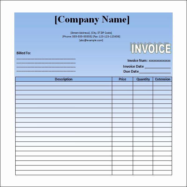 Invoice for Services Rendered Template New Sample Invoice for Service Rendered