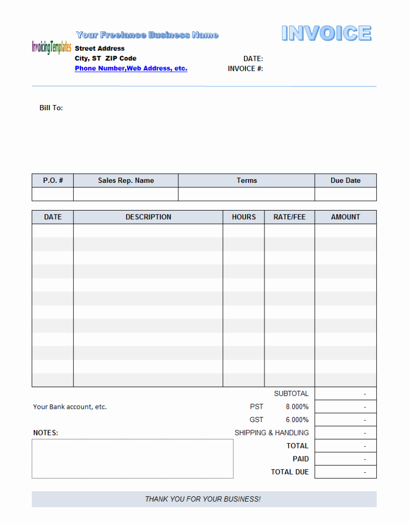 Invoice Template Fillable Pdf Awesome Free Fillable Invoice Template 10 Results Found