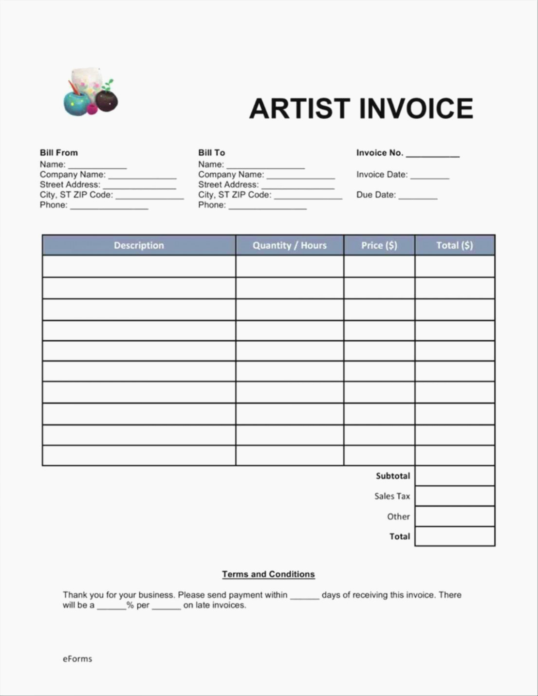Invoice Template Fillable Pdf Fresh the Ultimate Revelation