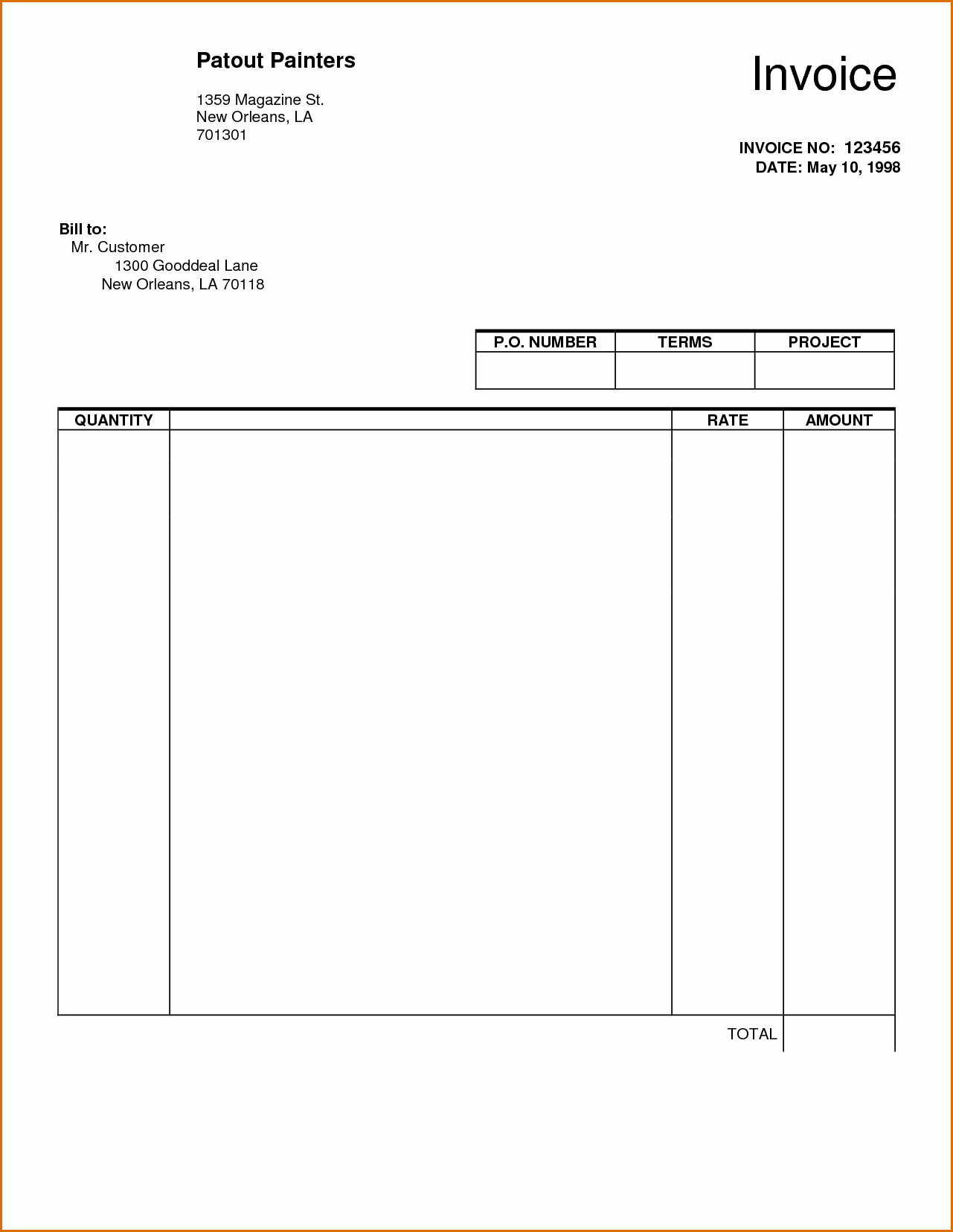 Invoice Template Fillable Pdf Inspirational 8 Blank Invoice Template Pdf