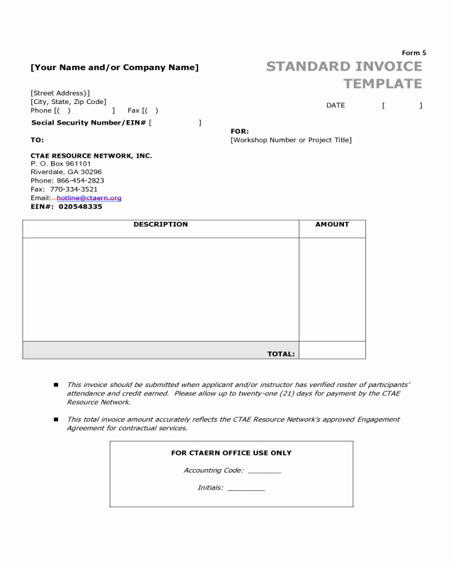 Invoice Template Fillable Pdf New 2018 Invoice Template Fillable Printable Pdf & forms